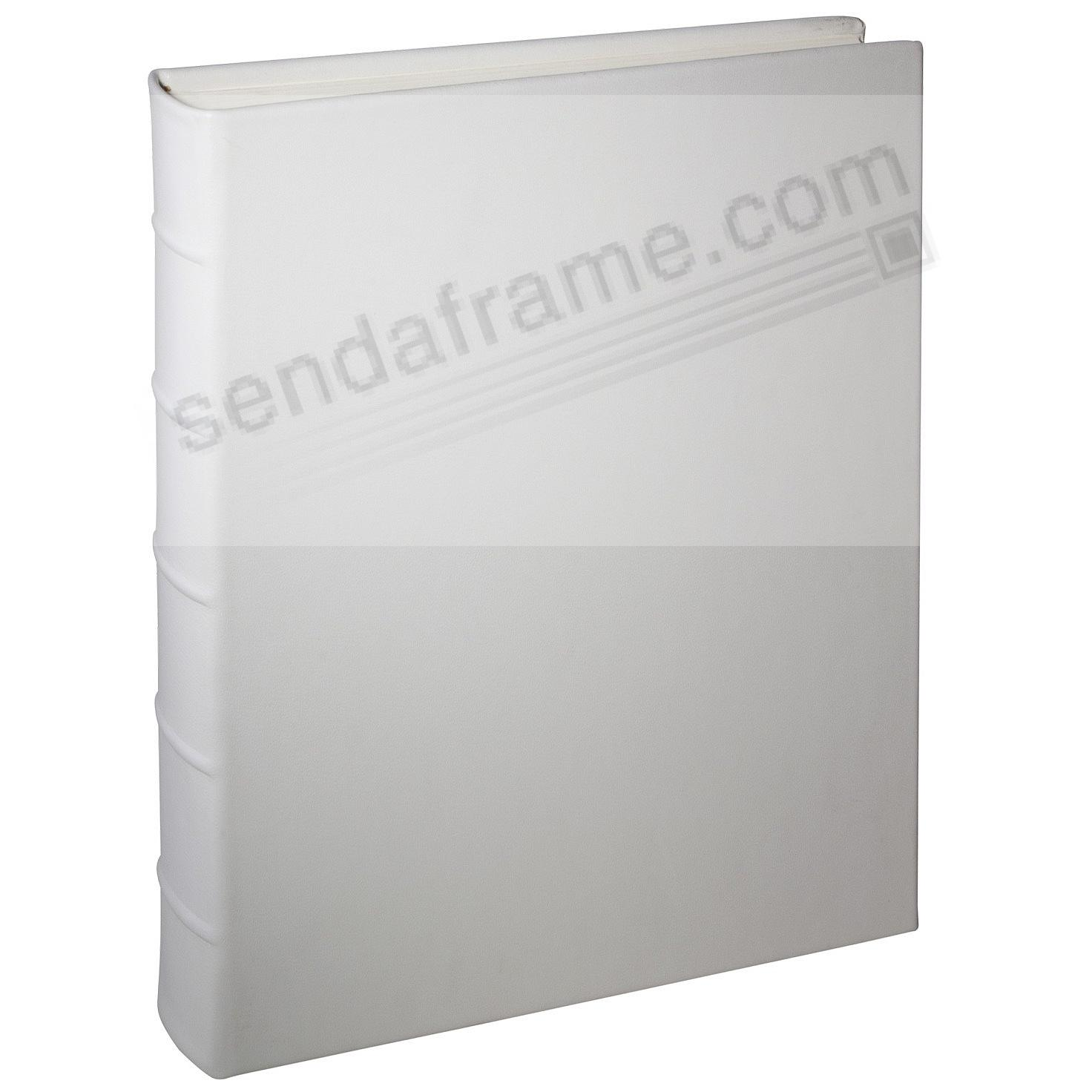 Wedding White Leather Medium Bound Album<br>by Graphic Image&trade;
