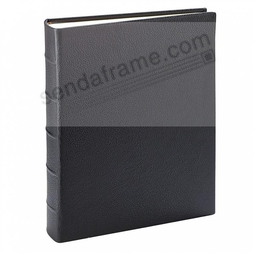 Full-Grain Black Calfskin Leather Bound (MEDIUM) Album<br>by Graphic Image&trade;