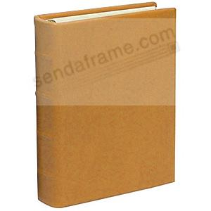Traditional Coach-Tan Leather 2-up Clear Pocket 4-ring Album<br>by Graphic Image&trade;