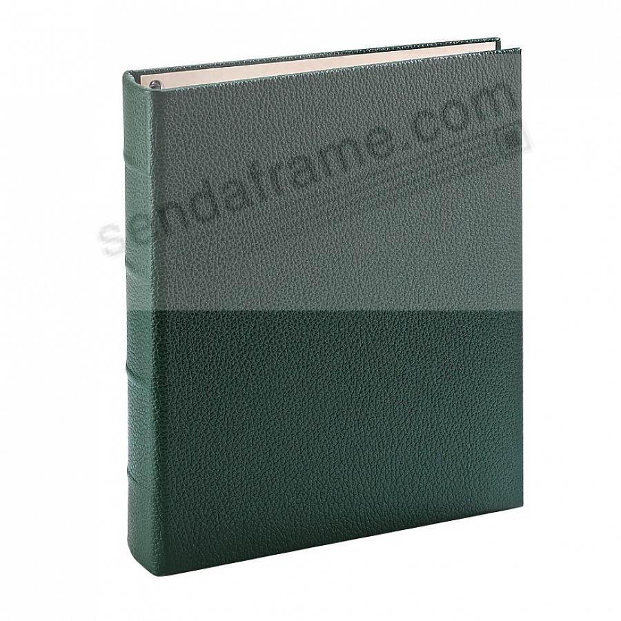 Traditional Green Leather 2-up Clear Pocket 4-ring Album<br>by Graphic Image&trade;