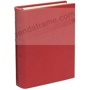 Traditional Red Leather 2-up Clear Pocket 4-ring Album<br>by Graphic Image&trade;