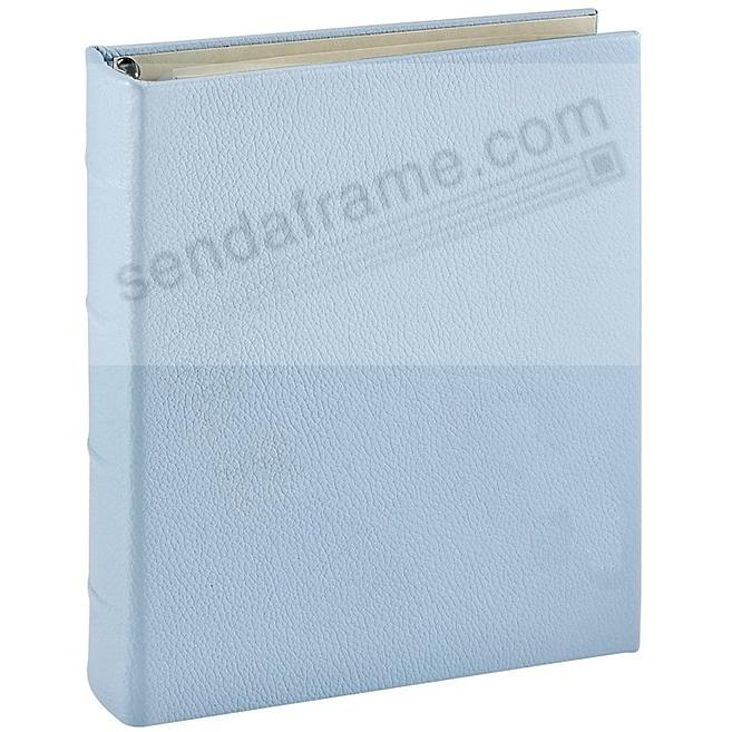 Baby Blue Leather 2-up Clear Pocket 4-ring Album<br>by Graphic Image&trade;
