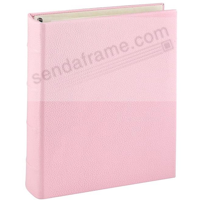 Light-Pink Leather 2-up Clear Pocket 4-ring Album<br>by Graphic Image™