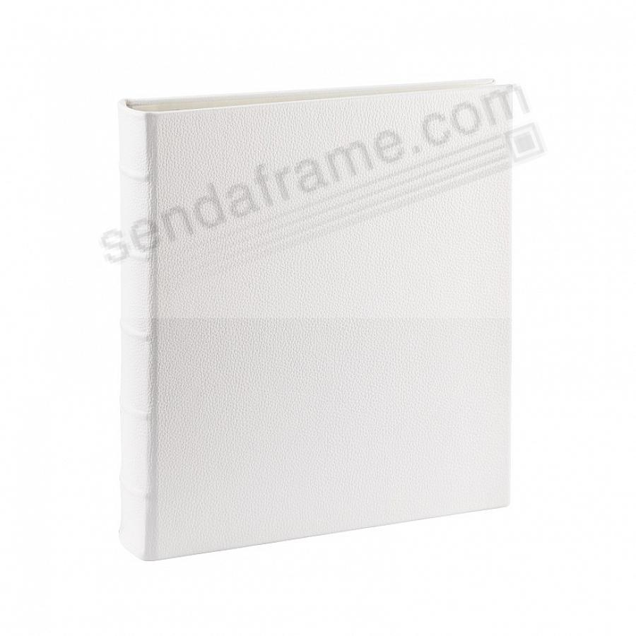 Wedding White Leather 2-up Clear 4x6 Pocket 4-ring Album<br>by Graphic Image™