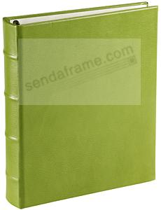Lime-Green Leather 1-up Clear Pocket 3-ring Album<br>by Graphic Image&trade;