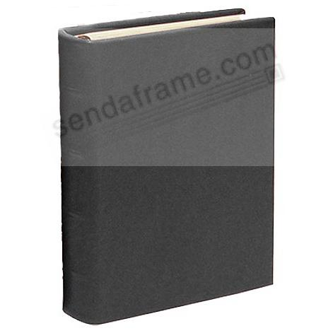 Traditional Black Leather 1-up (Small) Clear Pocket 3-ring Album by Graphic Image™