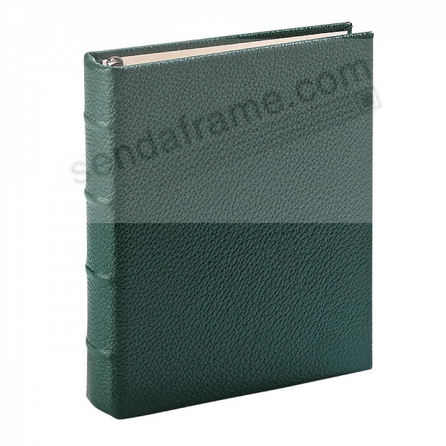 Traditional Green Leather 1-up Clear Pocket 3-ring Album<br>by Graphic Image&trade;