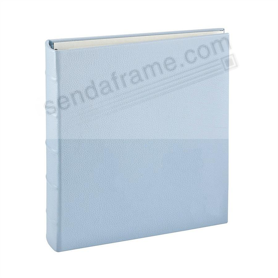 Standard 3-ring baby-blue Fine-Leather Clear Pocket Album by Graphic Image™