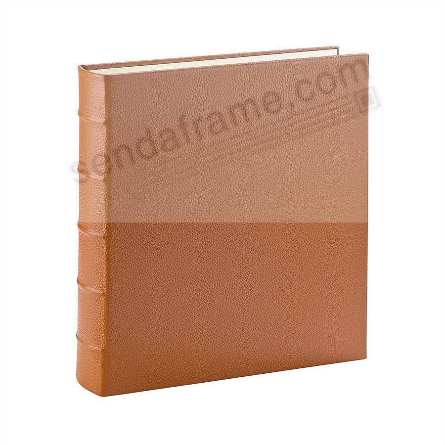 Standard 3-ring Traditional SADDLE Leather Clear Pocket Album<br>by Graphic Image&trade;