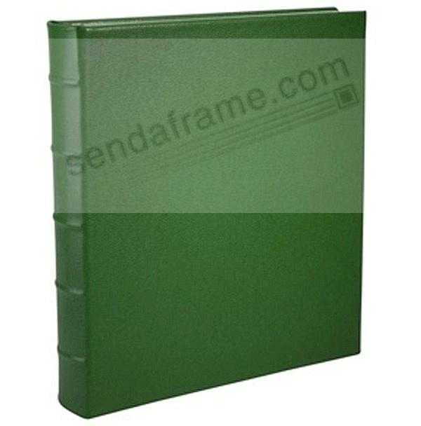 Standard 3 Ring Green Fine Leather Album With Slip In Pocket