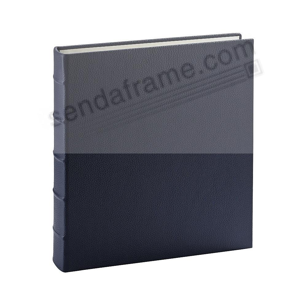 Standard 3-ring Traditional Navy-Blue Leather Clear Pocket Album<br>by Graphic Image&trade;