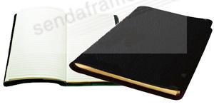 Raika® Large Journal in soft black leather