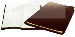 Raika® Large Journal in Soft Brown ROMA leather