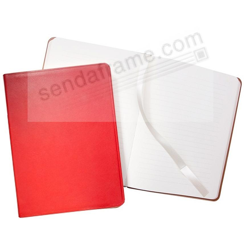 Luxe Flexible Red Leather 8'' Journal by Graphic Image™