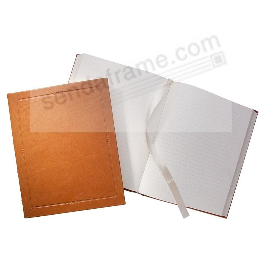 Traditional 9inch Hardcover Coach-Tan Leather Journal by Graphic Image™