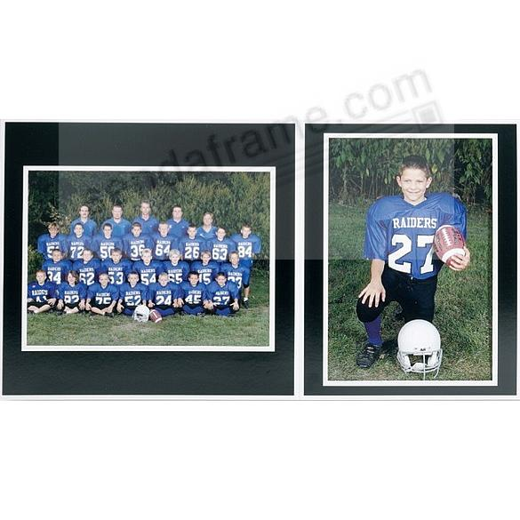 Player+Team 7x5/5x7 MEMORY MATES<br>Black cardstock double photo ...