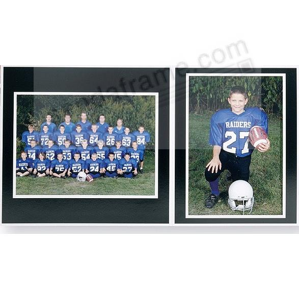 Team/Player 10x8/5x7 MEMORY MATES<br>Black cardstock double photo frame (sold in 10's)