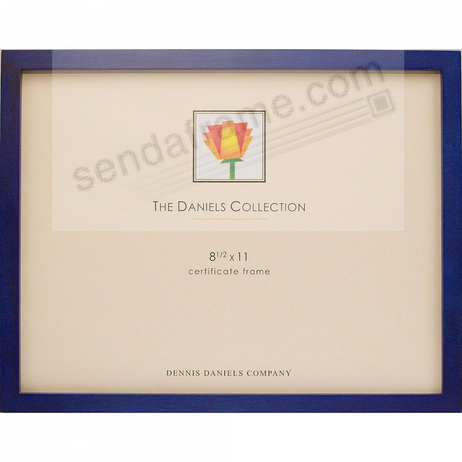 The Original DANIELS W41: Square Corner GALLERY WOODS Blue-Stain certificate size frame