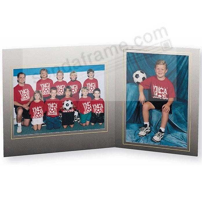 Team/Player 7x5/5x7 FANTASY MEMORY MATES<br>Cardstock double photo frame (sold in 10's)