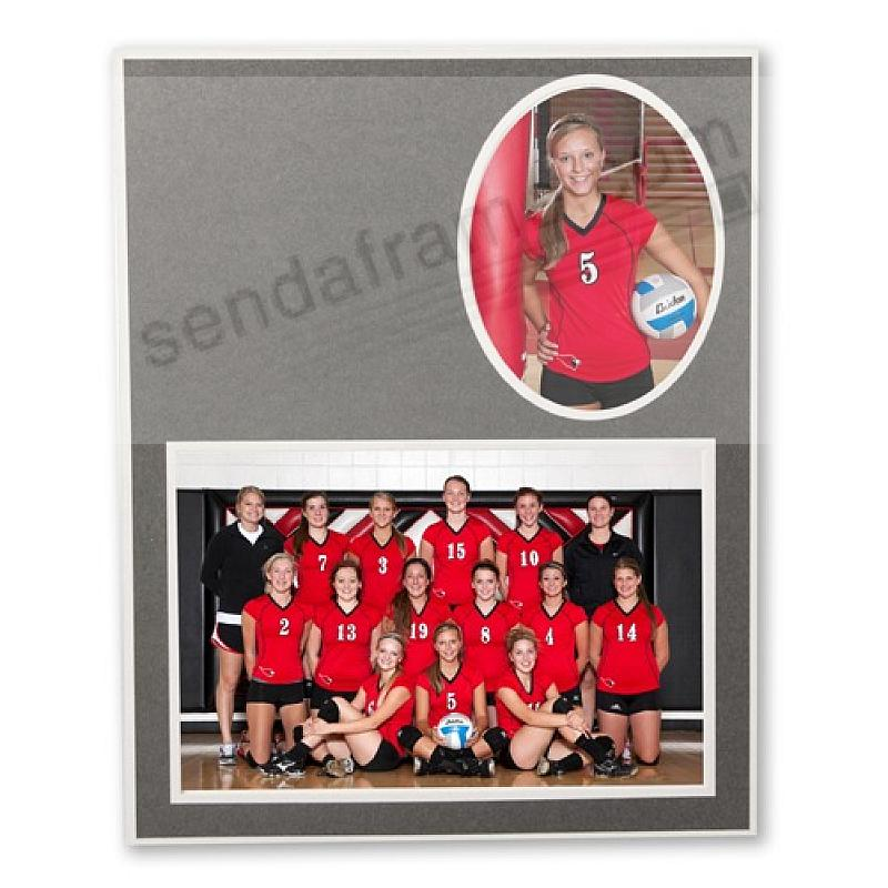 Player/Team 7x5/3x5 MEMORY MATES<br>Cardstock double photo frame (sold in 10's)