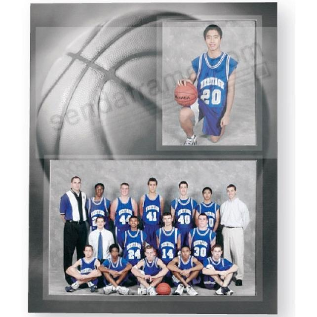 Basketball Player/Team 7x5/3½x5 MEMORY MATES cardstock double photo frame (sold in 10's)