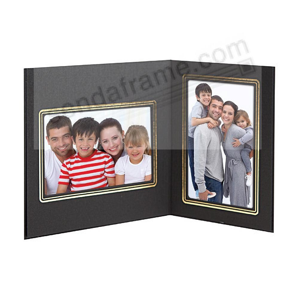 sycamore mixed double 7x55x7 memory matesblack cardstock double photo frame - Double 5x7 Picture Frame