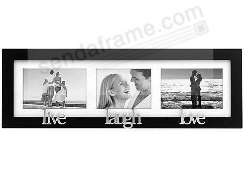 live laugh love special black trio wall collage frame
