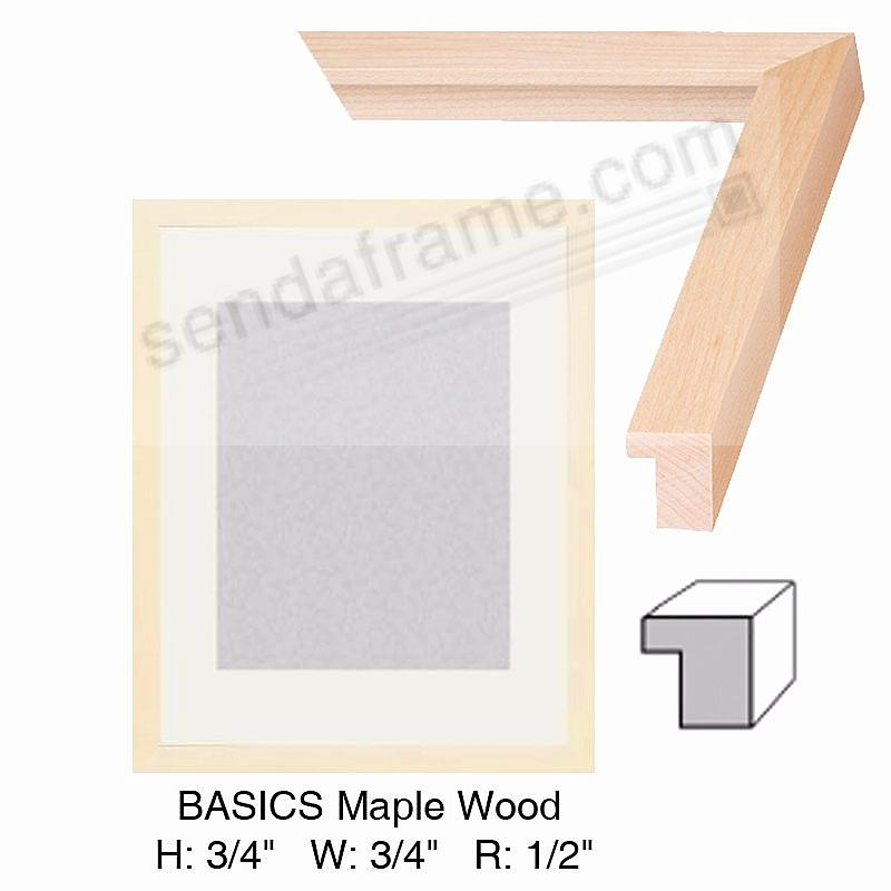 Custom-Cut™ BASICS Maple Wood H: 3/4 W: 3/4 R: 1/2
