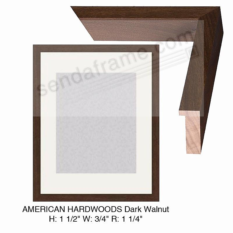 Custom-Cut™ AMERICAN HARDWOODS Dark Walnut H:1-1/2 W:-3/4 R:1-1/4