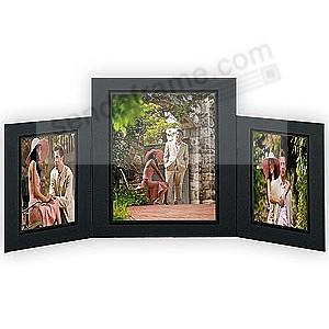 Promenade Triple 5x7 8x10 Black Cardstock Photo Frame Foil Border Sold In 10 S Picture Frames Als Personalized And Engraved Digital