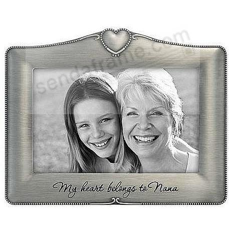 My Heart Belongs To Nana pewter frame by Malden®