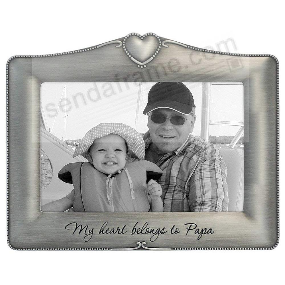 My Heart Belongs To Papa pewter frame by Malden®