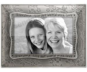 grandma fills our world pewter frame by malden