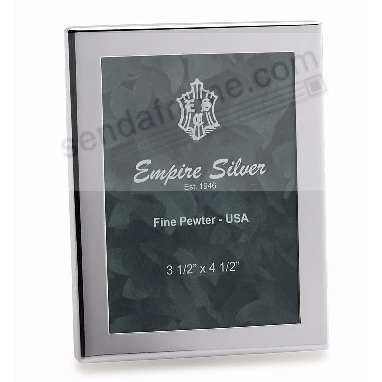 BRITE luxe engraveable solid pewter frame by Empire Silver®