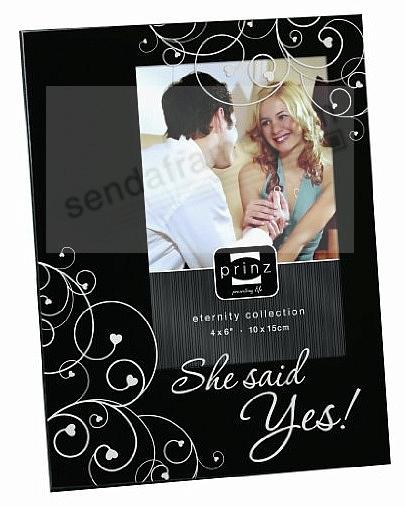 <i>She said Yes !</i> black wood frame by Prinz