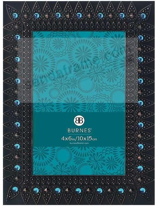 Turquoise jeweled AVA venetian copper frame by Burnes - Picture ...