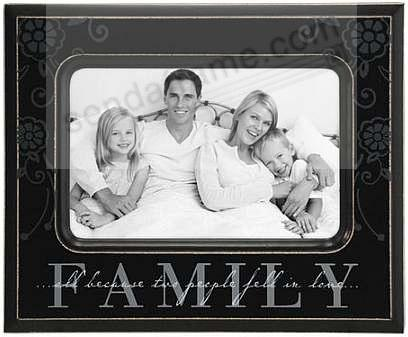 family special ebony black passages frame by malden