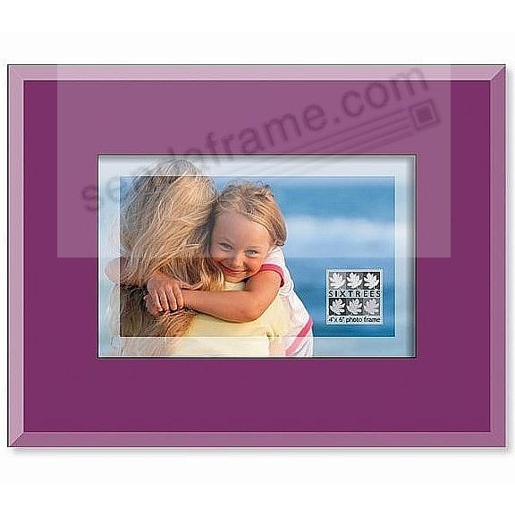 Purple Glass Translucent 4x6 Frame By Sixtrees Picture Frames