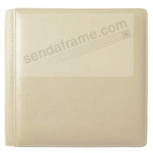 ST. TROPEZ BONE fine-grain leather #105 album with 5-at-a-time pages by Raika®