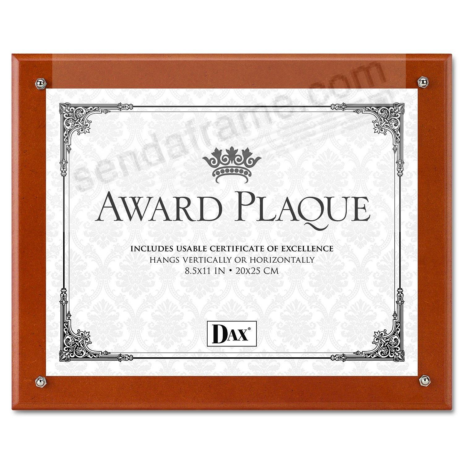 Walnut Certificate PLAQUE-In-An-INSTANT w/acrylic lens by DAX®