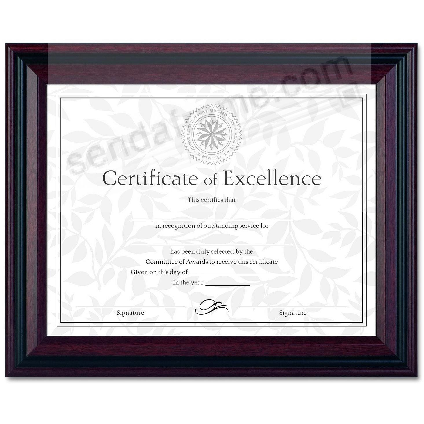 Rosewood/Black Certificate frame by DAX/Connoisseur®