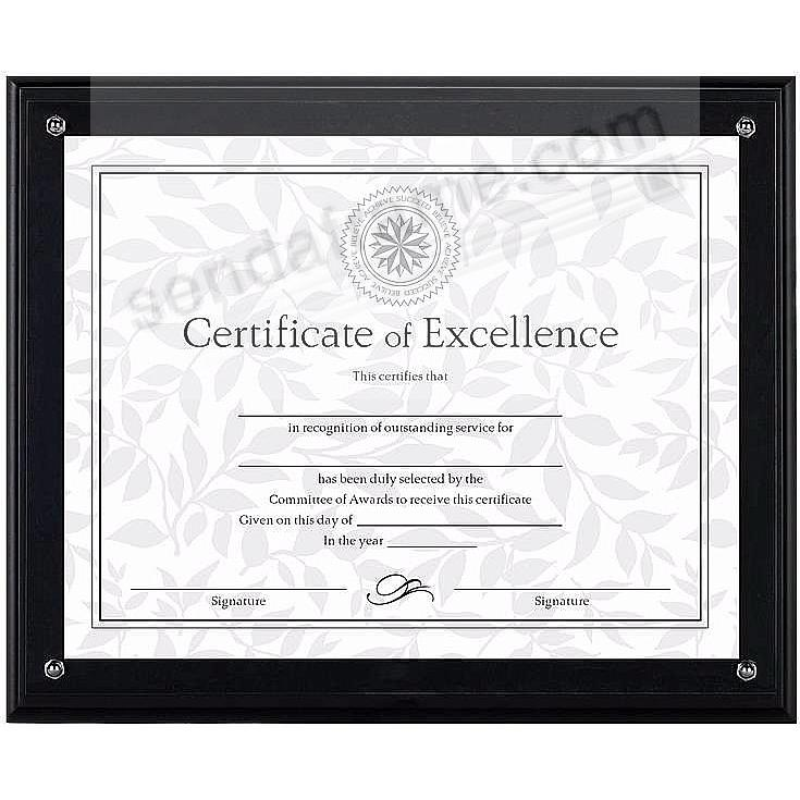 Black Ridged Certificate Display Kit By Dax Picture Frames Photo