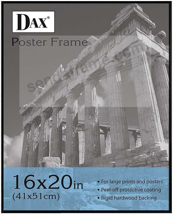 Black plastic 'U' channel poster sizes by DAX/Intercraft®