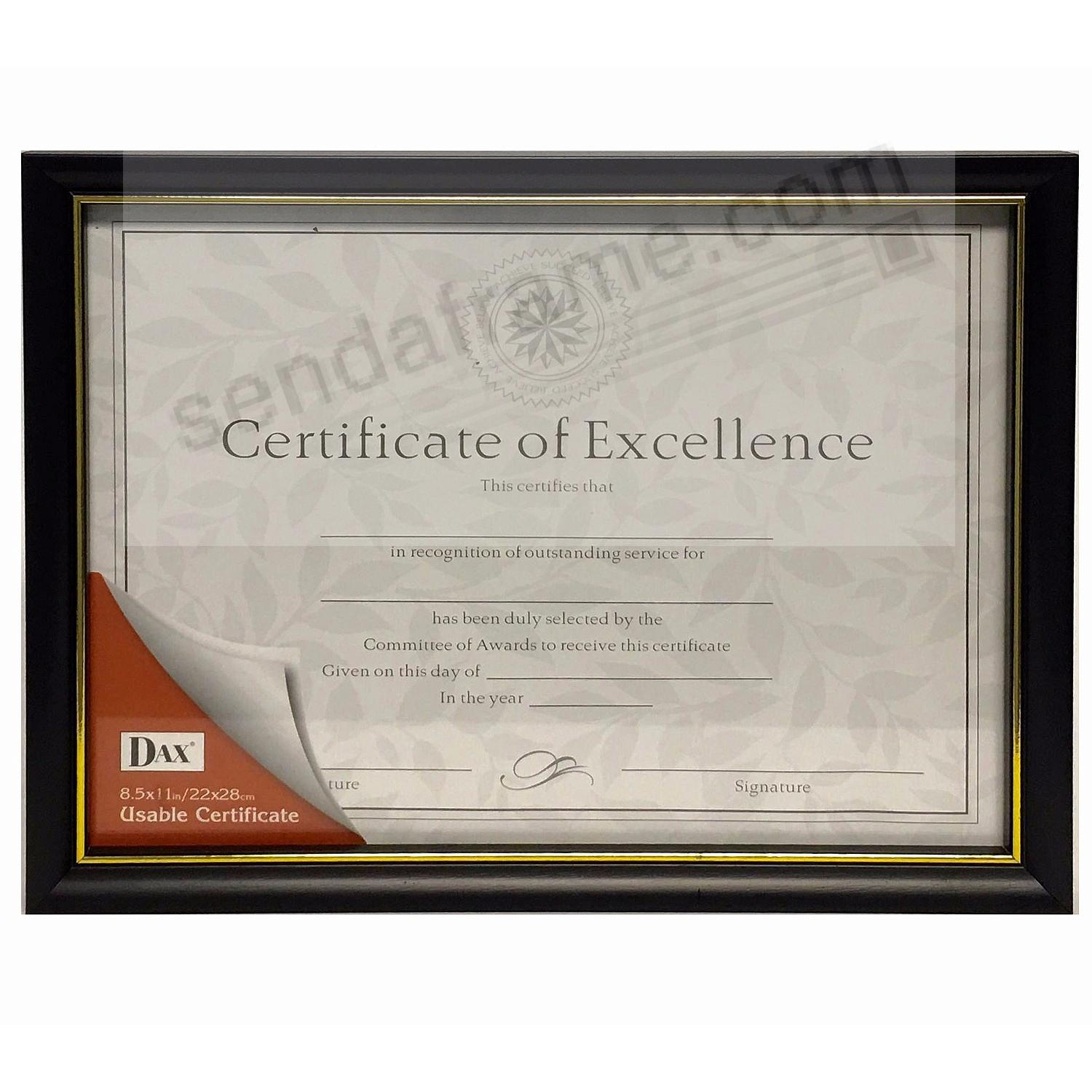 c38d1a0ad59 Black and Gold Document frame by DAX Connoisseur® - Picture Frames ...