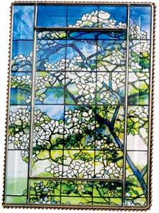 Tiffany Dogwood Glass Easel 4x6 Frame from the Metropolitan Museum collection