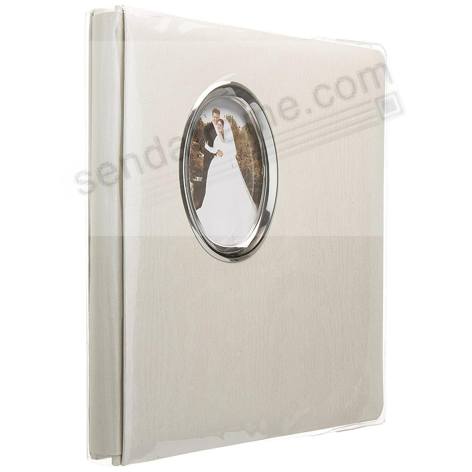 Silver Accent Wedding Post-Bound pocket album for 5x7 + 8x10 prints w/scrapbook pages by Pioneer®