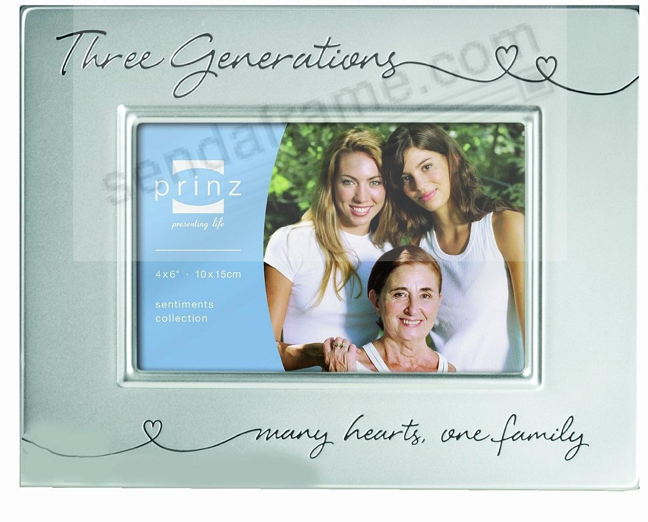 THREE GENERATIONS ... engraved in brushed silver - Picture Frames ...