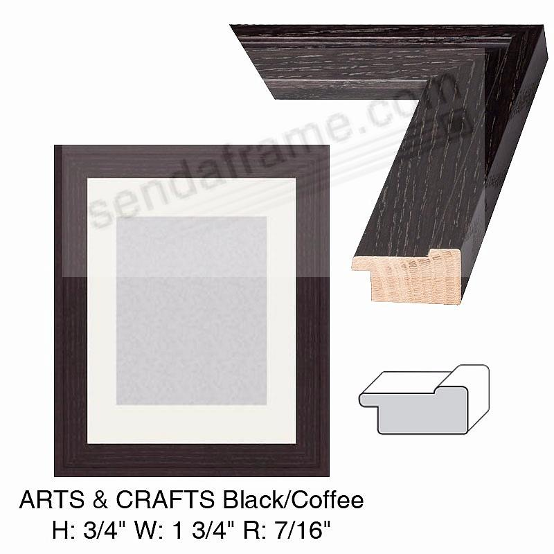 Custom-Cut™ ARTS+CRAFTS Black/Coffee Wood H:¾ W:1-½ R:7/16