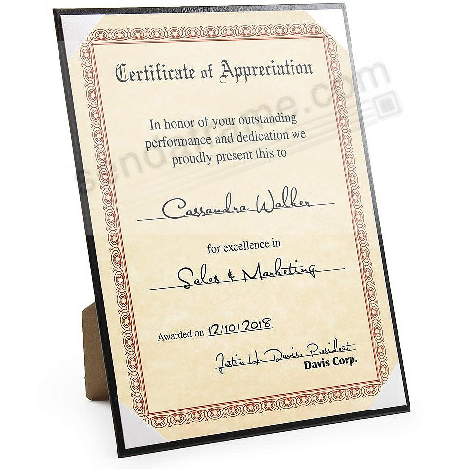 Premium Black Eco-Leather Certificate frame