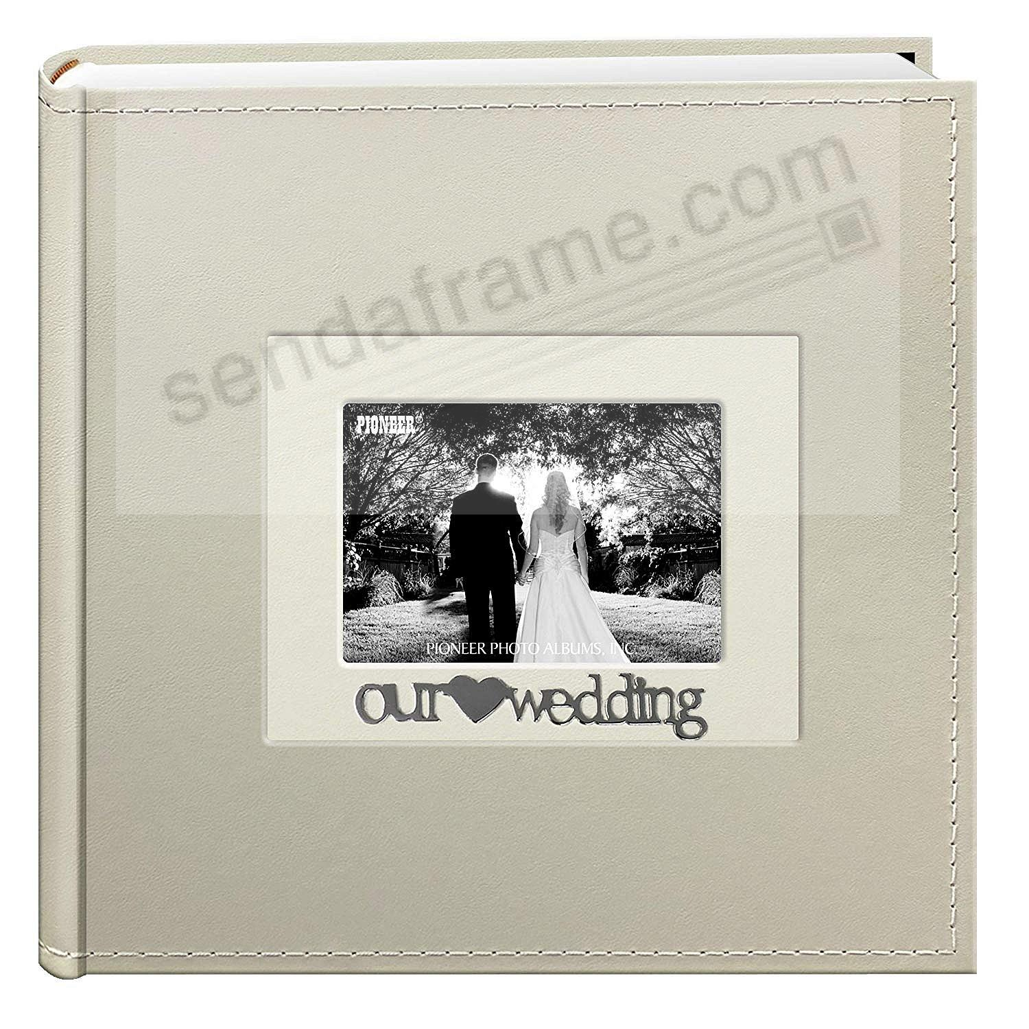 Our Wedding Applique White Album By Pioneer Holds 200 Photos